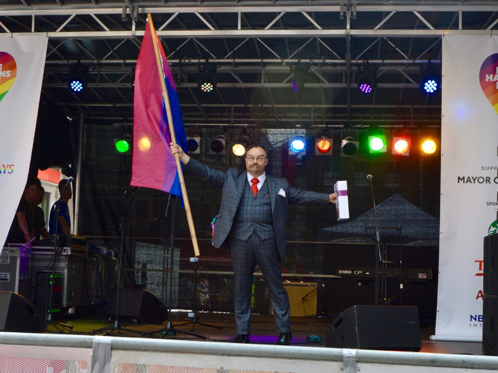On the Cabaret Stage at London LGBT Pride 2017